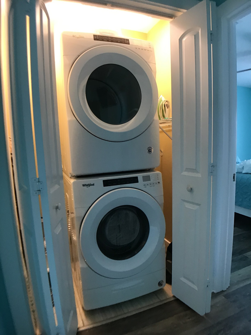 Full size stacked washer & dryer