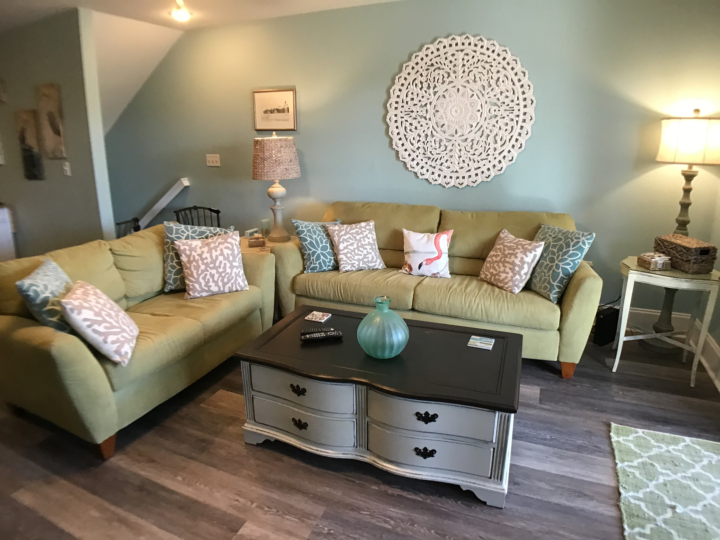 Seating area of family room