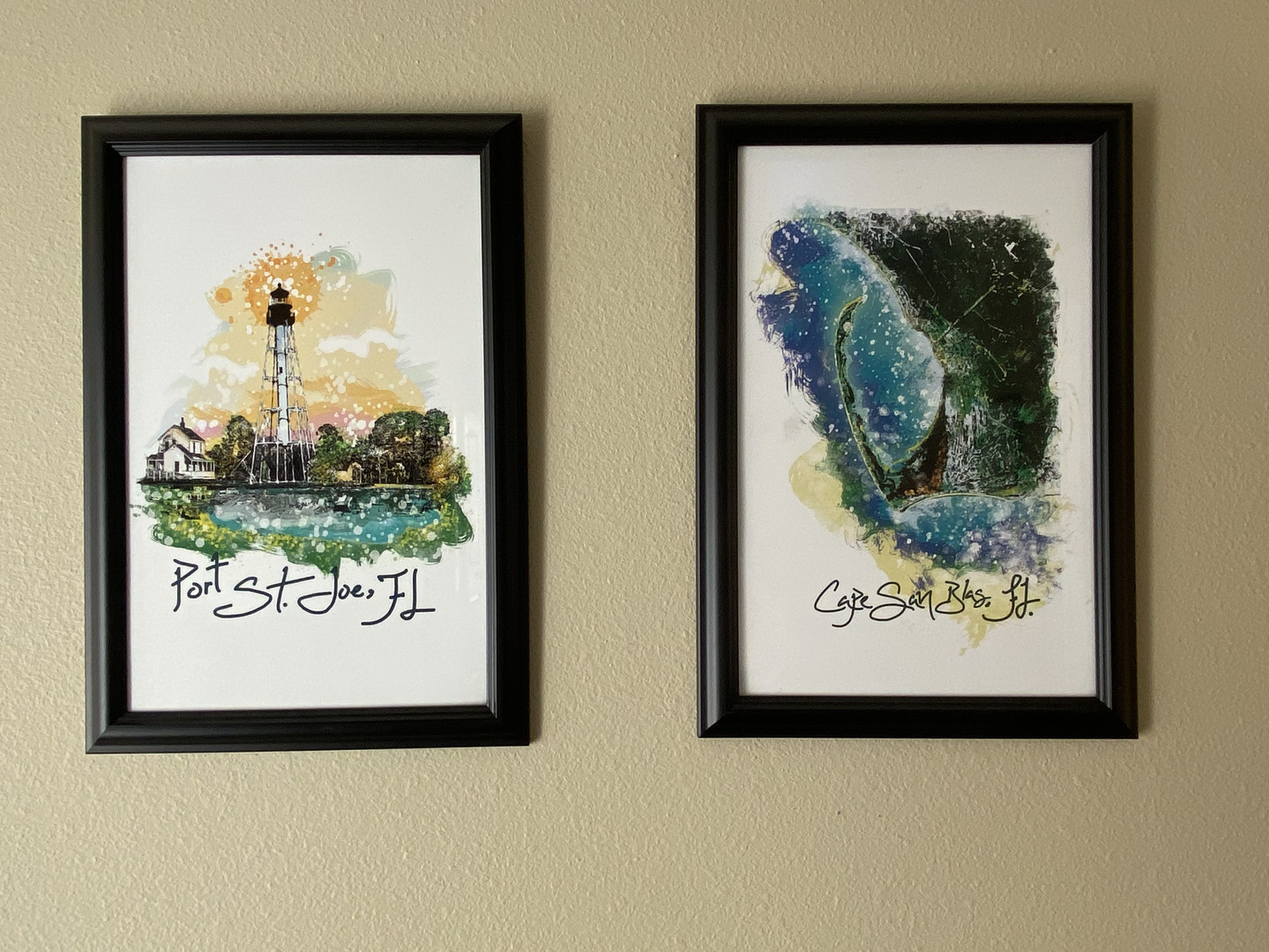 Prints in Foyer