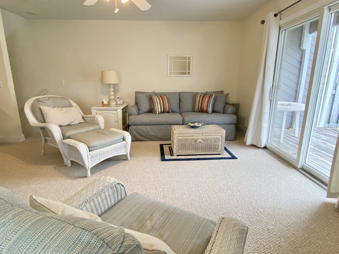 Comfortable living area with sleeper