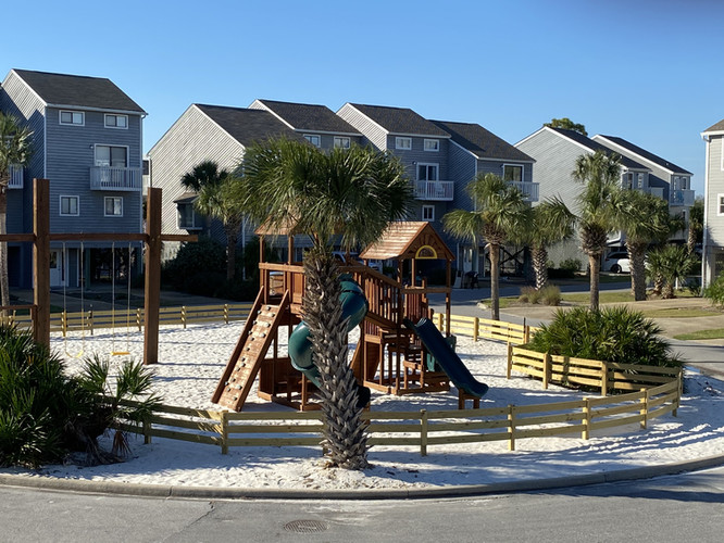 View of playground from twin room