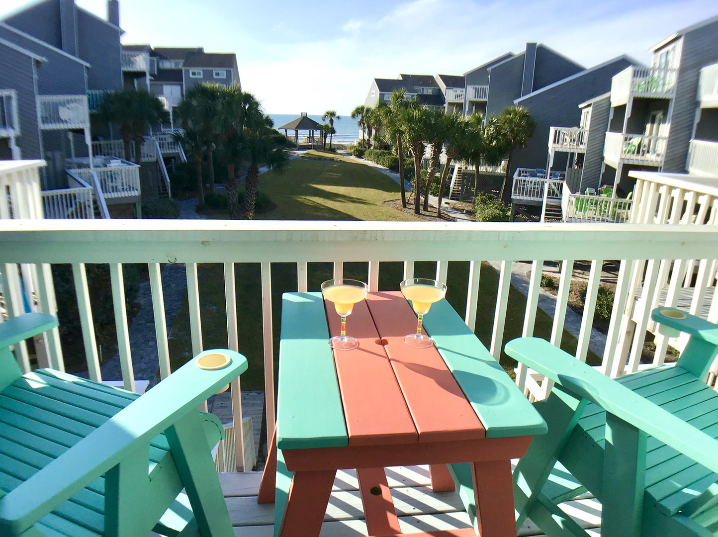 Deck off master suite has great view