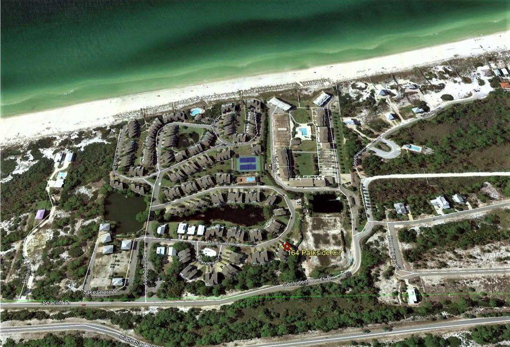 Ariel View of Barrier Dunes Complex.