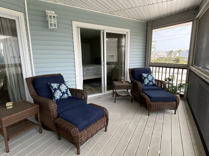 Screened porch from master bedroom