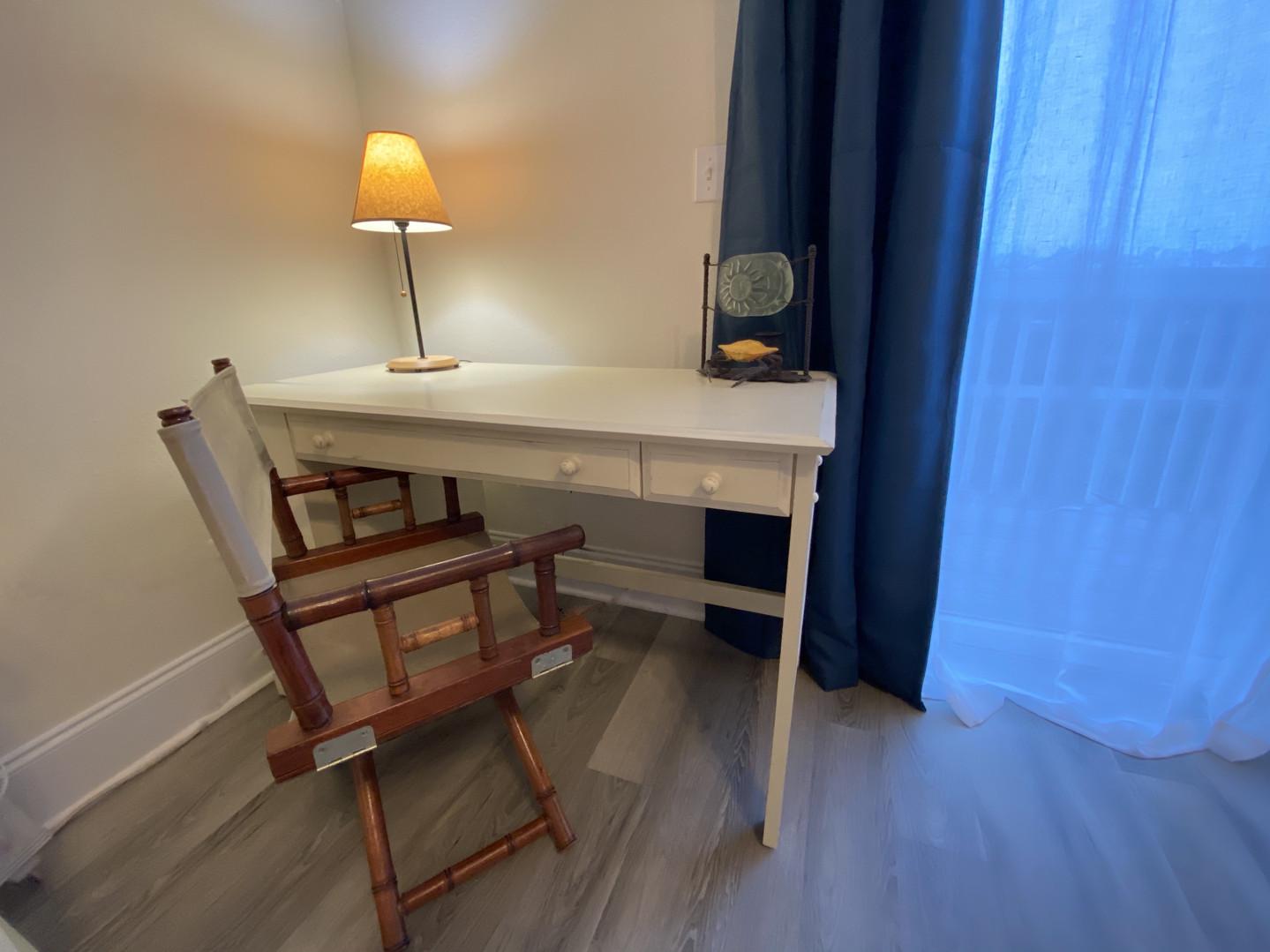 Desk in master suite