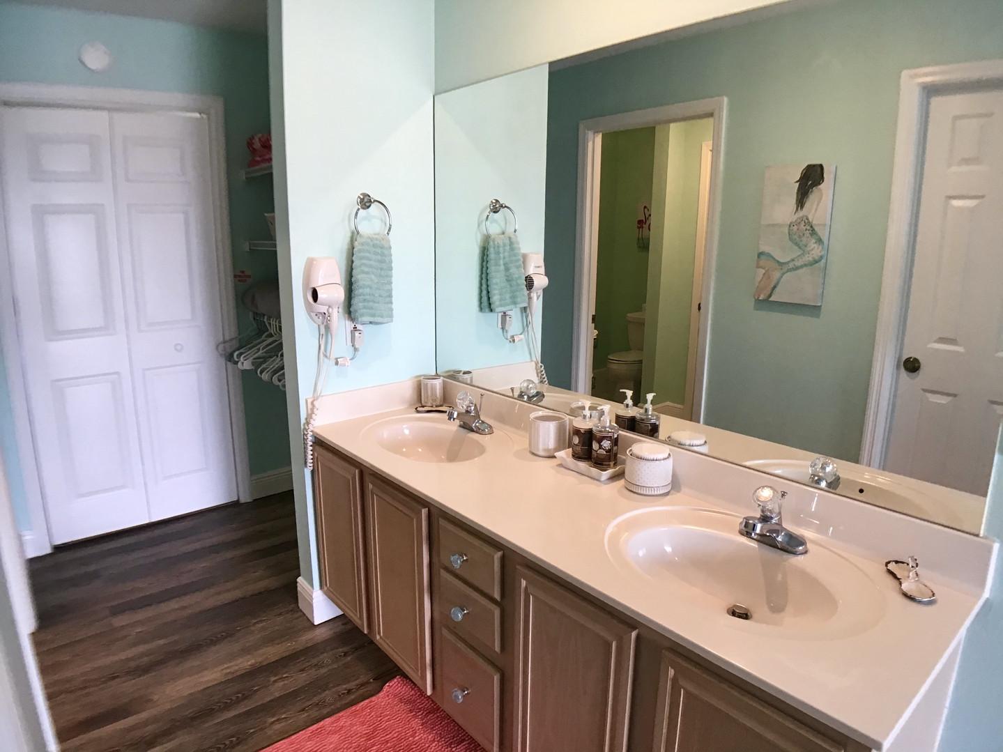 Double vanities in master suite