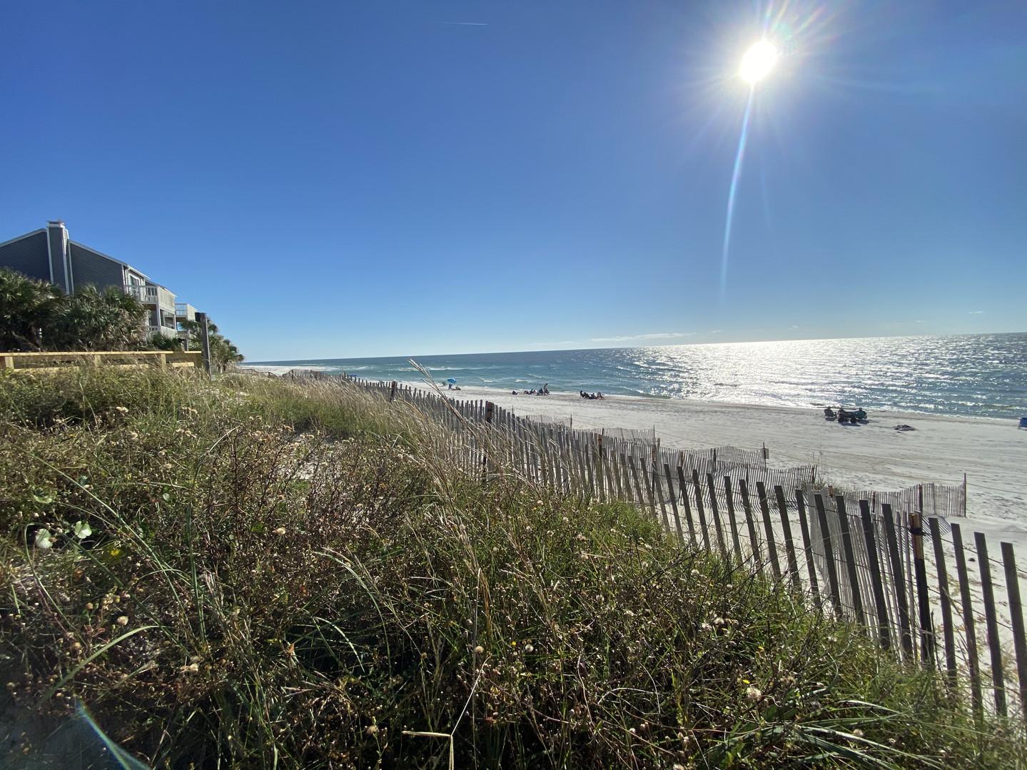 Beautiful unspoiled beach