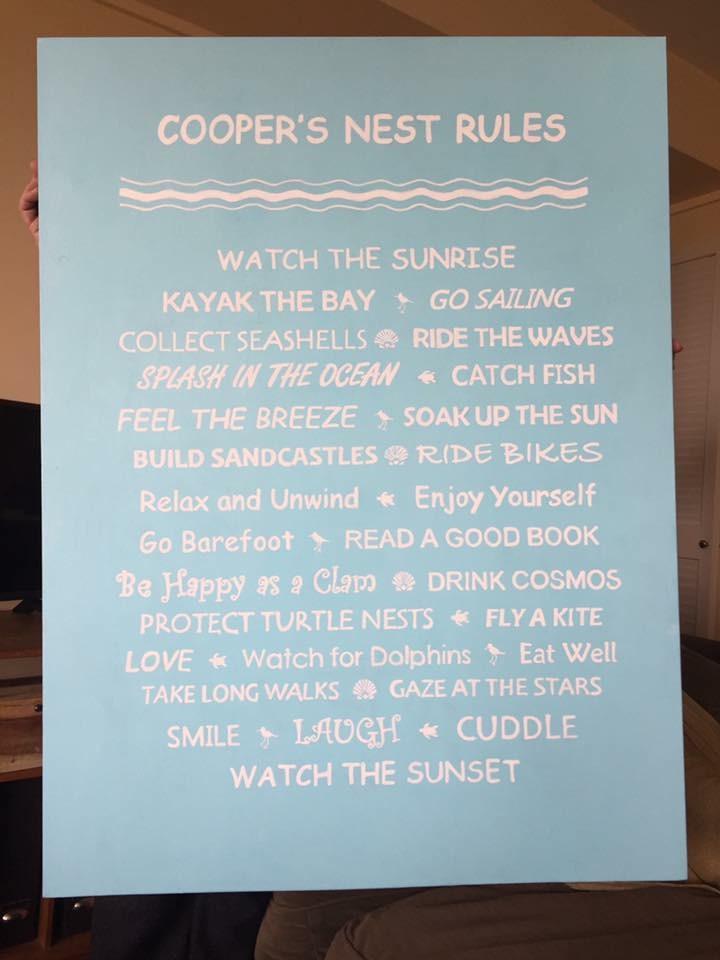 Cooper's Nest Rules