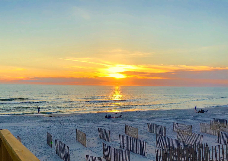 Sunset at Barrier Dunes