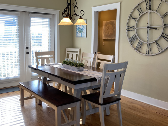 Dining Area with French Doors to Balcony