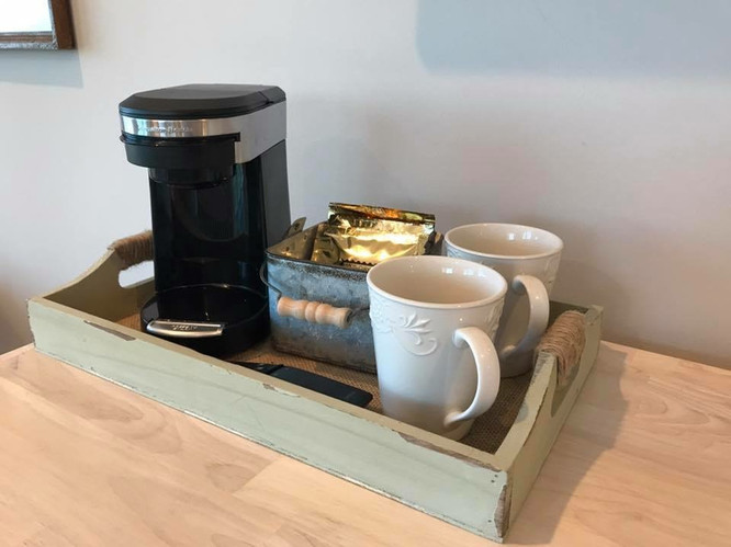 Coffee Service in Each Master Bedroom