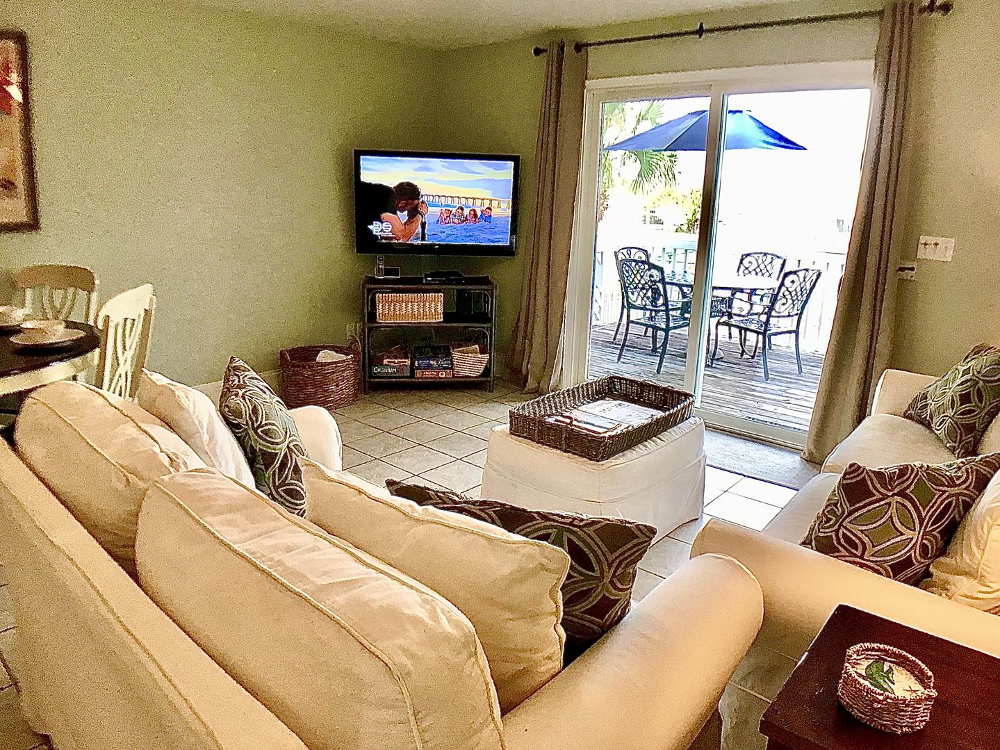 Living area opens onto deck