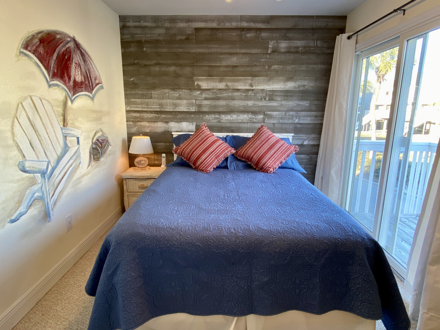 Queen bedroom with private balcony