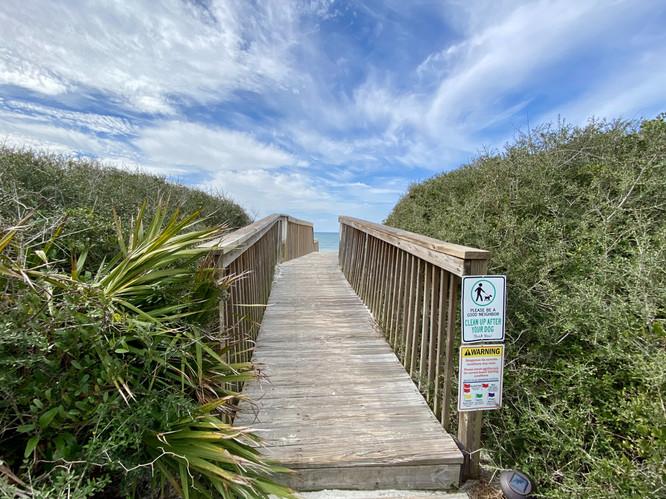 Walk to beach from Dune Reel Good