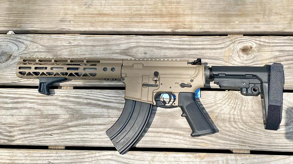 "Anderson AR-15 pistol 8"" KAK stainless barrel 7.62x39 FDE"