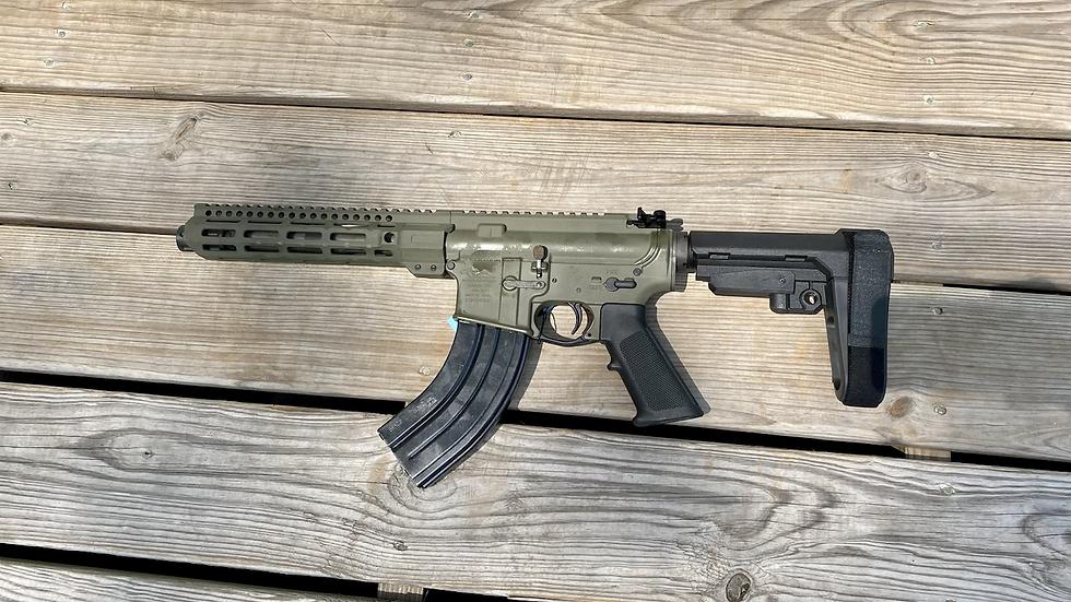 "Anderson AR-15 pistol 8"" KAK stainless barrel 7.62x39 OD Green"
