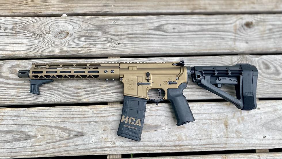 "Anderson AR-15 pistol 10.5"" KAK barrel 5.56 Cerakoted Burnt Bronze"