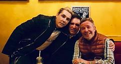 Rencontre avec Luigi Gigliotti (au milieu) neveu de Dalida