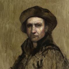 Rembrandt style portrait