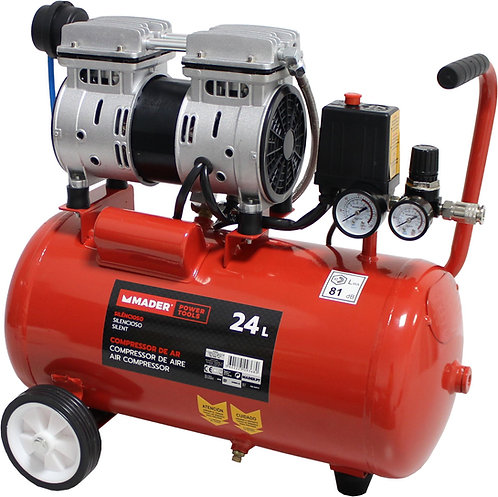 Mader Compressor Pistão Silencioso 24L 0.75HP 09368