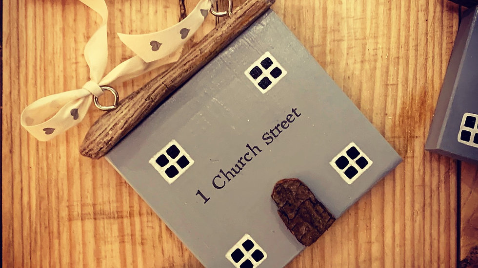 Personalised wooden hanging sign, new home gift