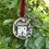 Thumbnail: Liberty fabric wooden house ornament