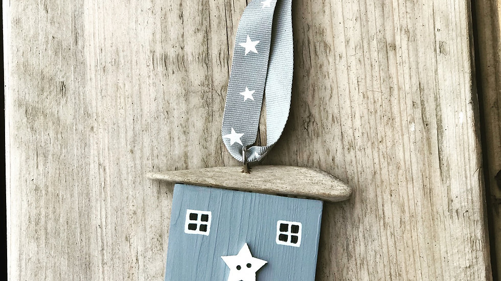 Grey stars hanging house