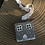 Thumbnail: Christmas house hanging ornament in grey