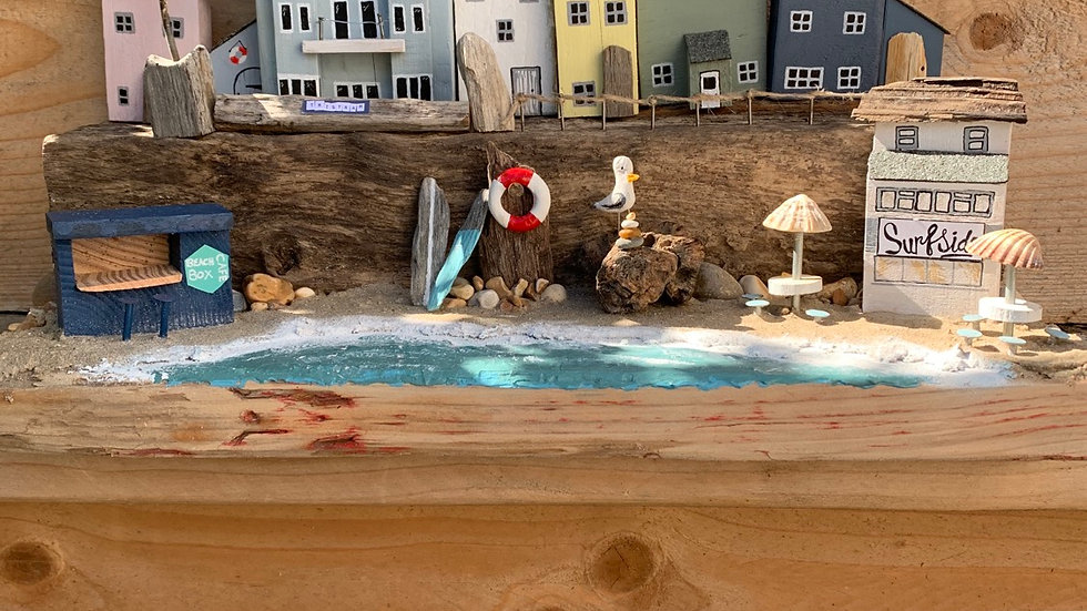 Polzeath beach scene commision