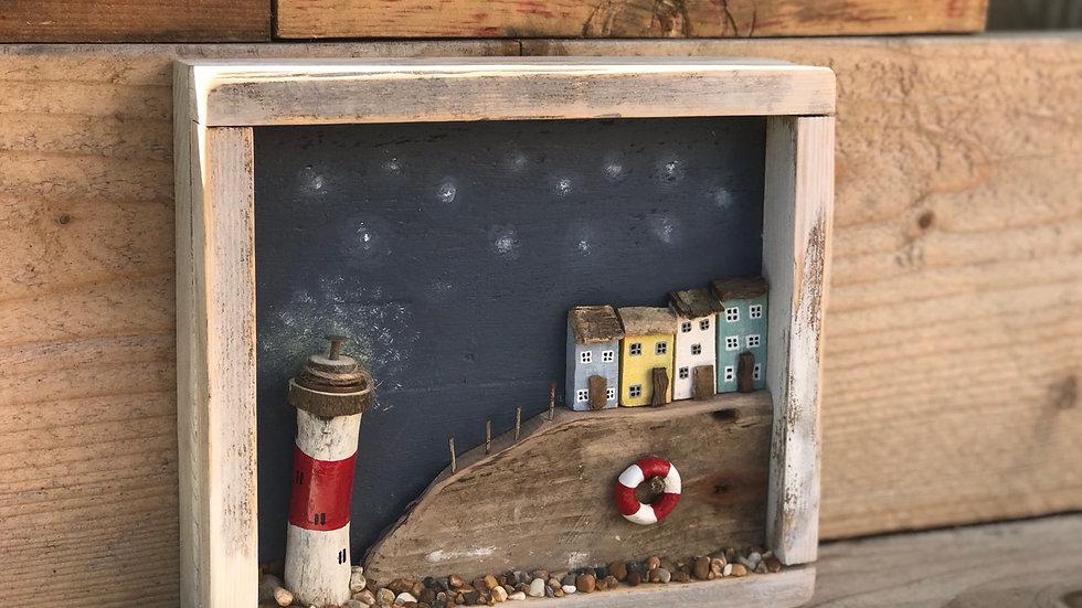 Light house scene box frame