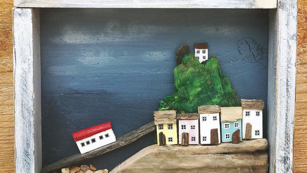 Tenby scene Commision, box frame piece.