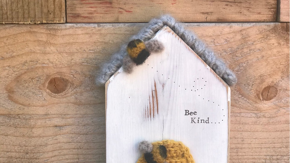 Knitted bee hive house