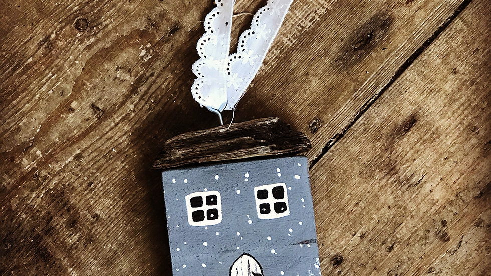 Christmas house hanging ornament