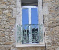 Juliet balcony from outside