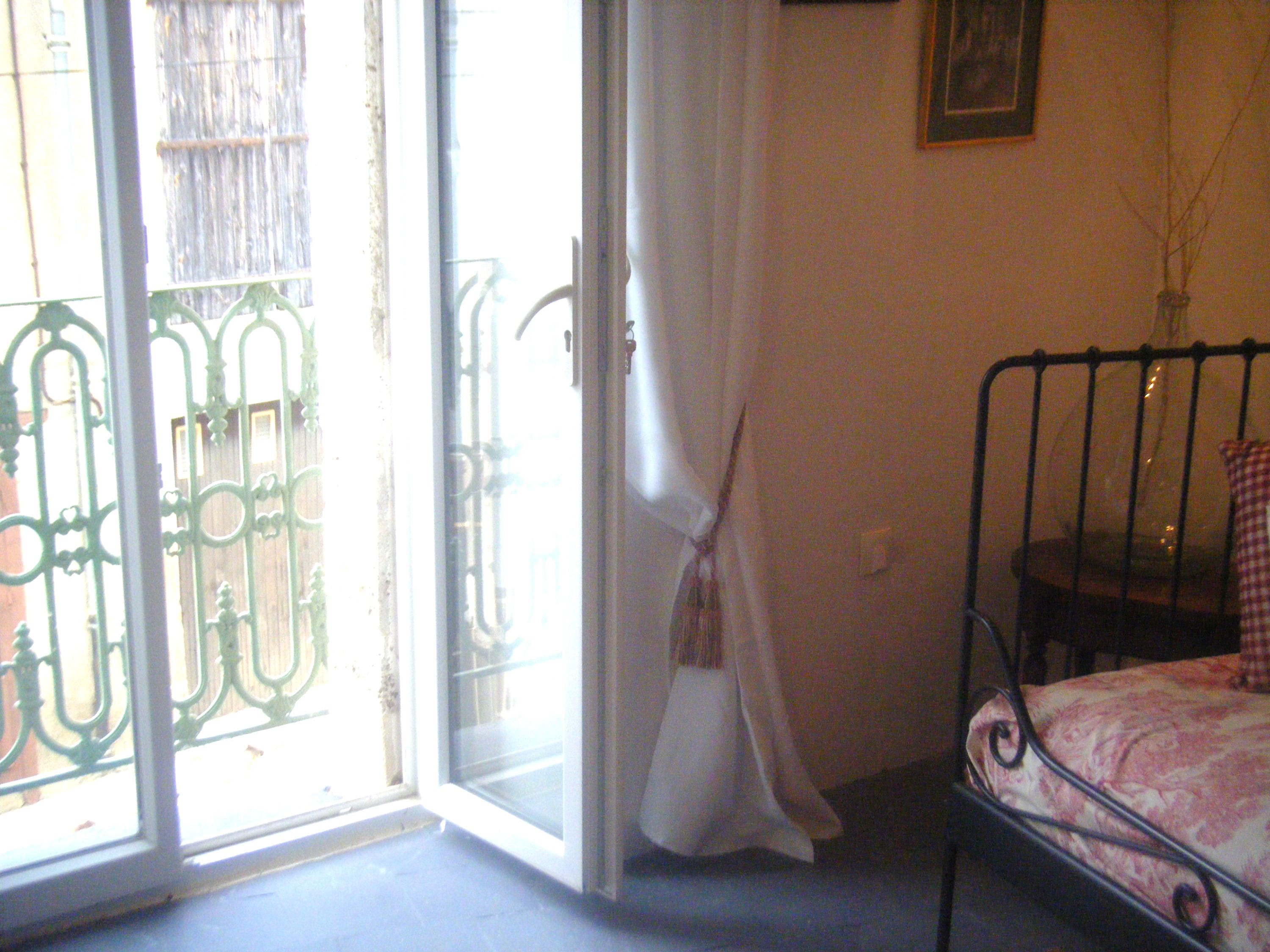French windows leading to Juliet balcony in Lounge