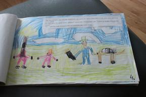 Book drawn by kids