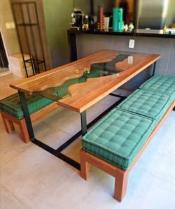 RIVER TABLE E BANCOS