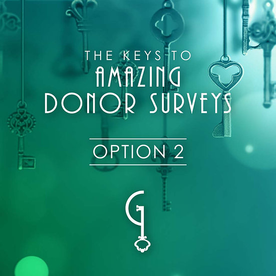 The Keys to Amazing Donor Surveys Option 2