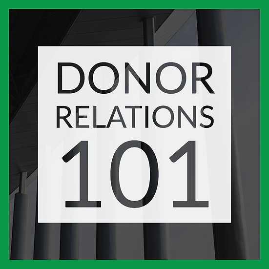 New Year New You: Donor Relations 101
