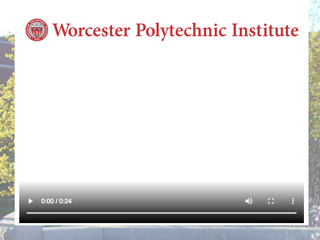 Worcester Polytechnic Institute Personal Thank You Video
