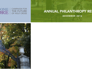 College of the Holy Cross Annual Report