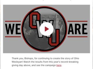 Ohio Wesleyan University Thank You Video