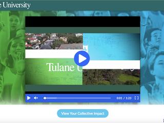 Tulane University ThankView (Give Green)