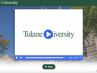 Tulane University ThankView (3rd gift)