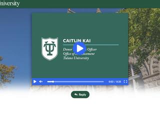 Tulane University ThankView (2nd gift)