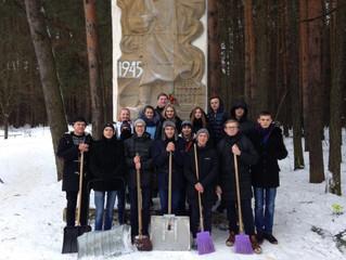 Волонтерская акция по благоустройству памятников павшим в Великой Отечественной войне