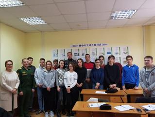 Курсант Военной академии РВСН рассказал студентам о преимуществах учебы и службы