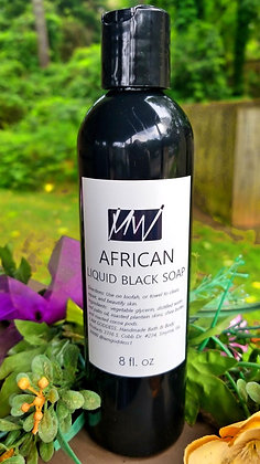 8 oz. Liquid African Black Soap