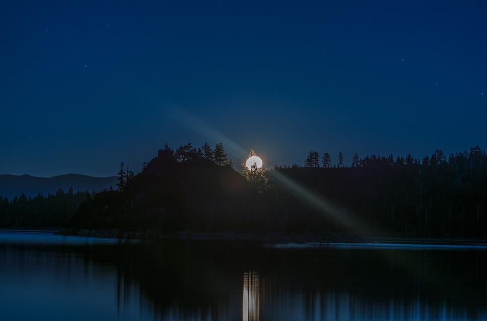 Super Moon over Emerald Bay