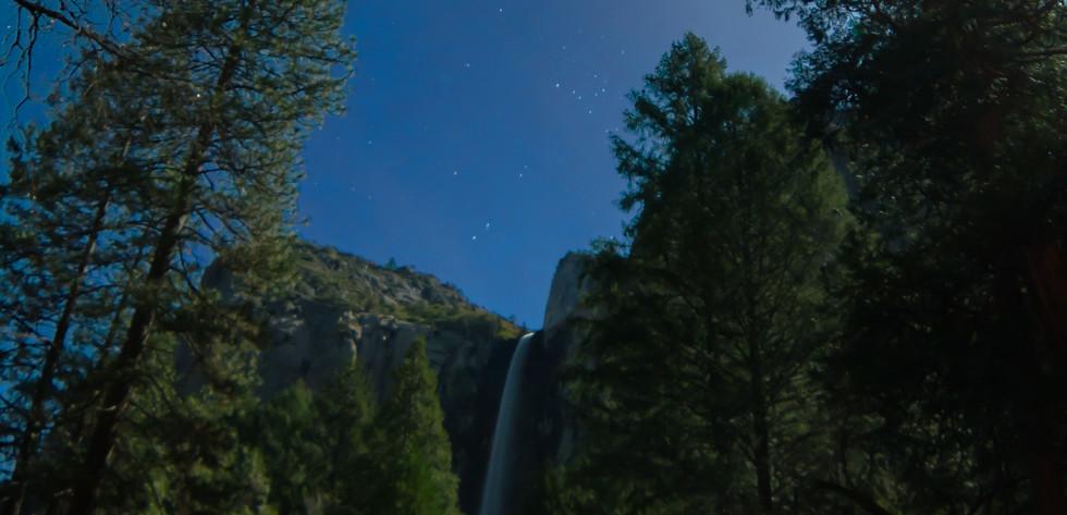 Bridal Veil Falls at night